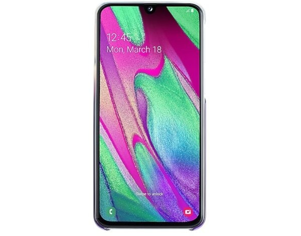 Etui SAMSUNG Gradation Cover do Samsung Galaxy A40 Fioletowy EF-AA405CVEGWW