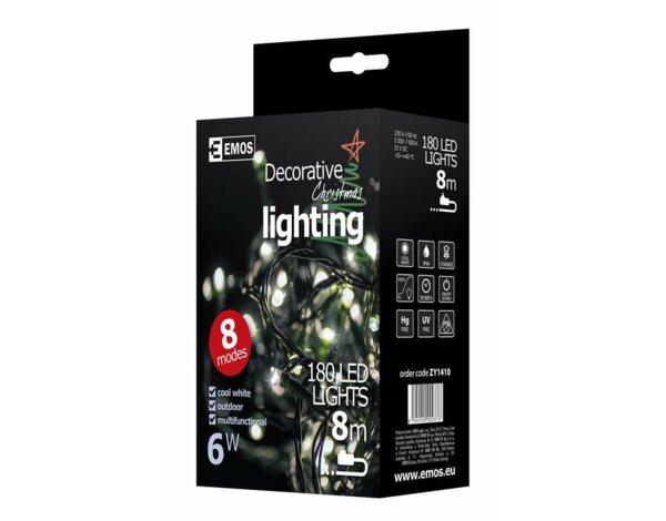 Oświetlenie świąteczne Emos 180 Led Christmas Kurtyna 3m Cw
