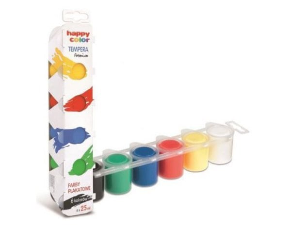 Farby plakatowe HAPPY COLOR Tempera Premium 6x25ml