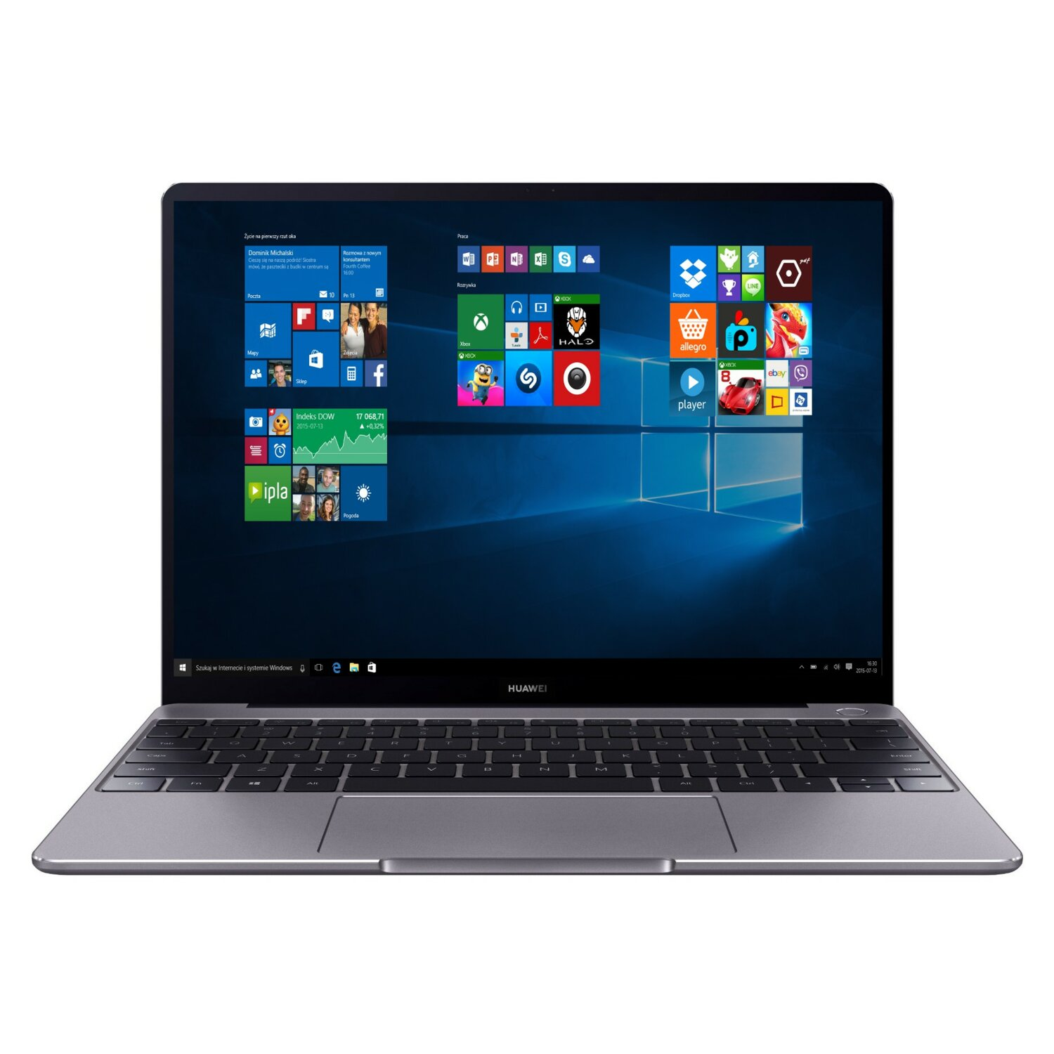 Laptop HUAWEI MateBook 13 i7-8565U/8GB/512GB SSD/MX150/Win10H Szary