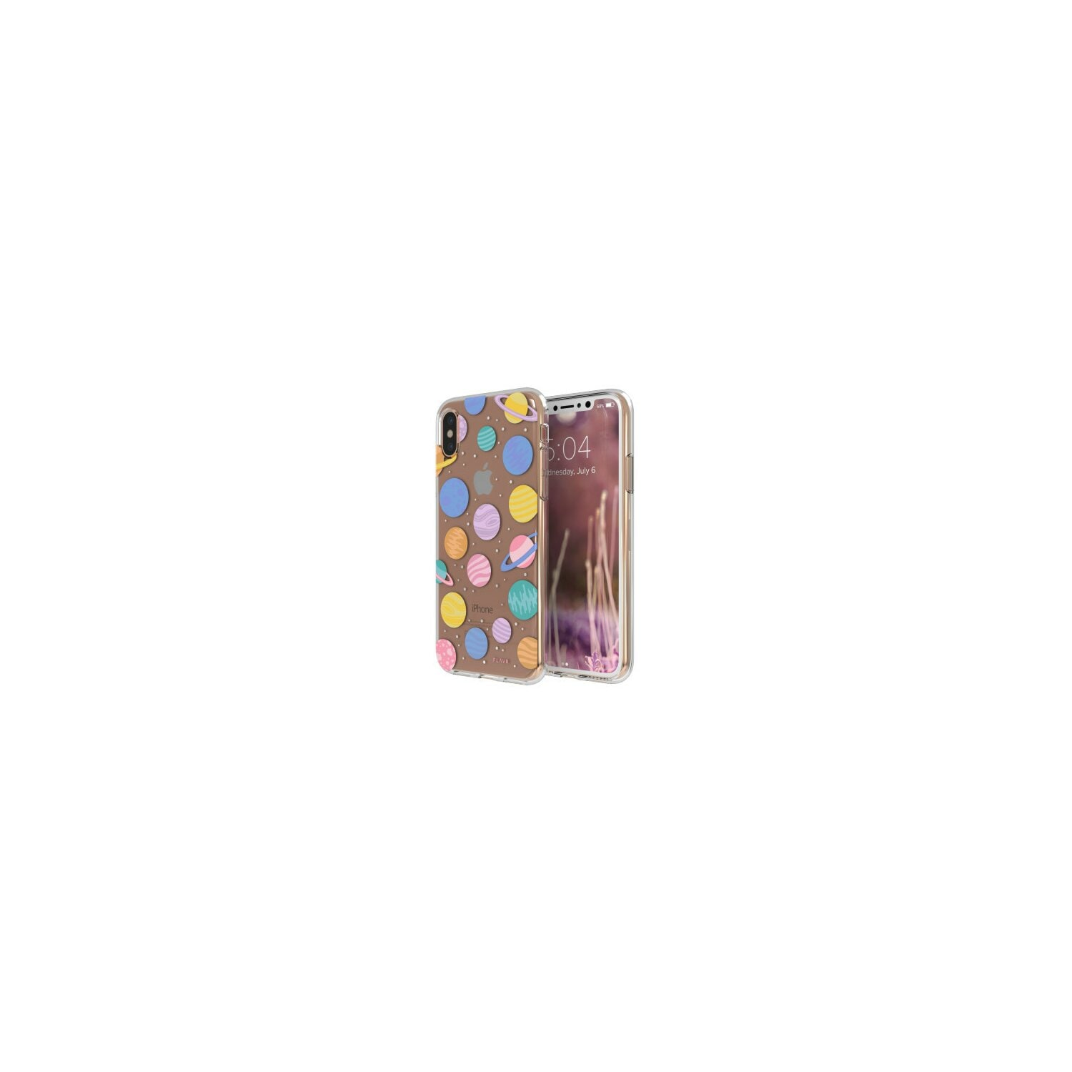 Etui FLAVR iPlate Happy Planets do Apple iPhone X Wielokolorowy (30012)