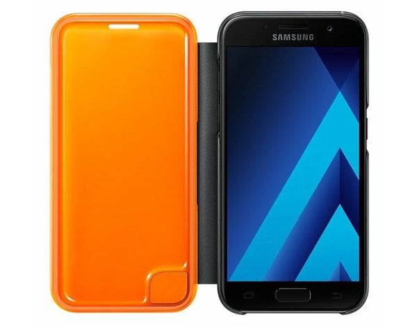 Etui SAMSUNG Neon Flip Cover do Galaxy A3 (2017) Czarny